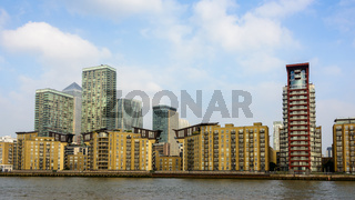 Canary Wharf skyline, London