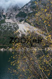 Mountain alpine autumn lake Achensee, Alps, Tirol, Austria.