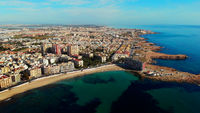 Aerial view Los Locos beach, Torrevieja, Spain