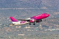 Wizzair Airbus A320 Flugzeug Flughafen Athen in Griechenland