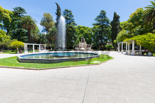 Argentina Mendoza Italy square and fountain