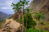 Traditional houses in Paul Valley, Santo Antao island, Cape Verde