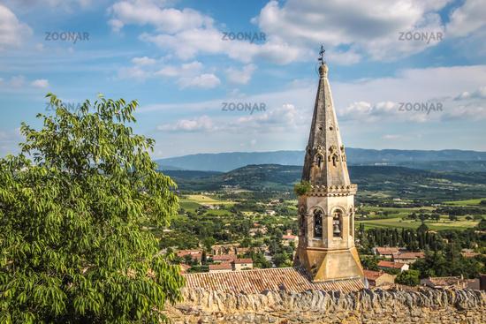 View of the village church of Saint-Saturnin-les-Apt