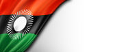 Malawi flag isolated on white banner