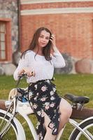 girl cyclist posing