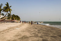 West africa gambia - view of the beach