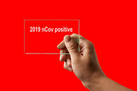 Hand with positive test for 2019 nCov.