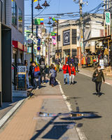People Walking at Street, Shibuya District, Tokyo, Japan
