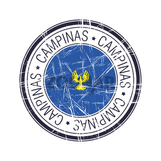 City of Campinas, Brazil vector stamp