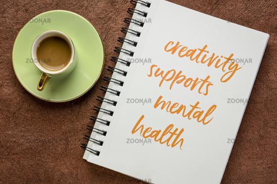 creativity supports mental health