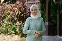 Portrait of Muslim girl