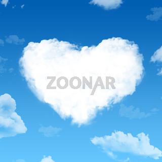 Wolken Herz