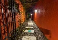 Pathway on island Bali Indonesia