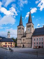 Kirche und Schlossplatz in Berchtesgaden