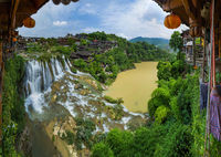 Furong ancient village and waterfall - Hunan China