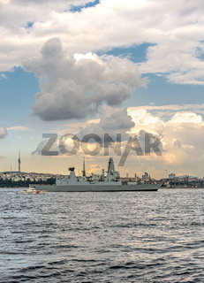 Passage of a warship through the Bosphorus Strait