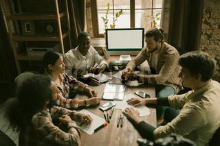 Brainstorming of Multi-Ethnic Freelancers Group