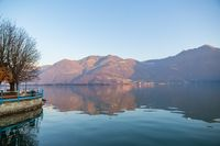 Romantic Iseo lake panorama
