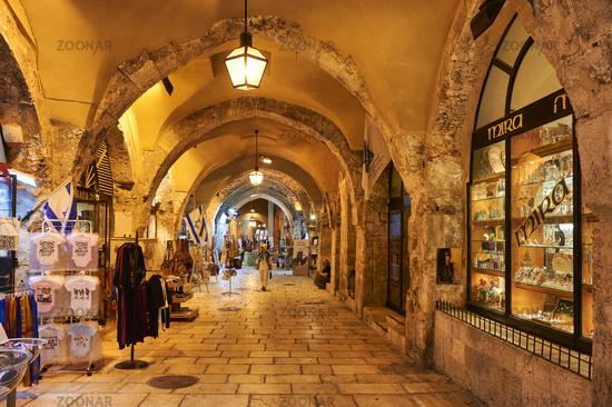 Jerusalem Israel. The Cardo in the jewish quarter
