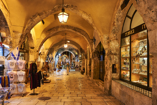 Jerusalem Israel. The Cardo in the jewish quarter