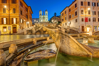 Die leere Spanische Treppe in Rom