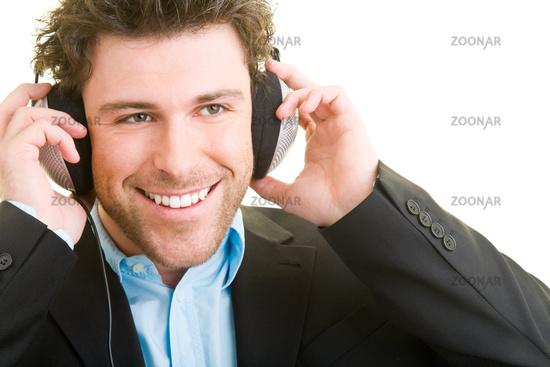 Manager hört Musik