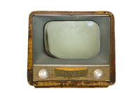 Retro russian tv isolated