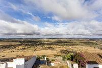 Landschaft bei Monsaraz, Monsaraz, Alentejo, Portugal