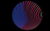 Kreis mit Muster in Neon Farben vor schwarzem Hintergrund