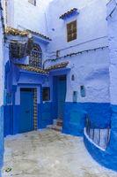 Strasse in der blauen Stadt Chefchaouen
