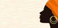 Silhouette of a young african woman