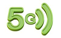 Green 5G icon 3D