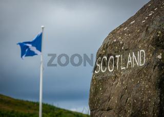 Sign At The Scottish Border