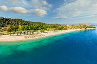 The beach Nisiotissa in Evia, Greece