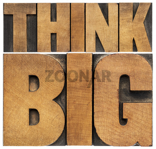 think big in wood type