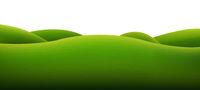 Green Landscape Isolated White Background