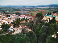 Aerial photo Ronda cityscape, Malaga, Costa del Sol, Spain