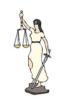 typical Justitia clipart graphic