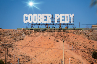 lettering Coober Pedy in south Australia