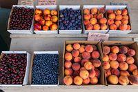 Beautiful fresh fruit at the local market