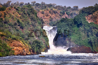 Die Murchsion Falls im Murchison Falls Nationalpark Uganda | The Murchison Falls at Murchison Falls National Park Uganda