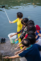 Chinese Family taking photo in Fenghuang