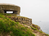 Bunker on a shore