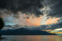 Sunset over Lake Geneva at Montreux