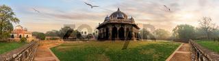 Isa Khan's Tomb Panorama, Humayun's Tomb Complex, India, Delhi