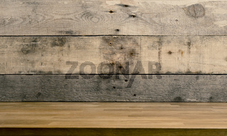 Wooden background with space for text or image