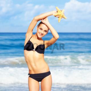 beautiful woman in bikini
