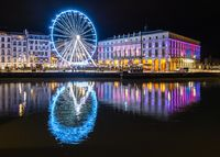 The ferris wheel at night in Bayonne, France