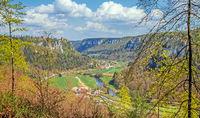 Donautal bei Beuron mit Schloss Werenwag, Landkreis Sigamringen