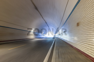 tunnel motion blur and exit